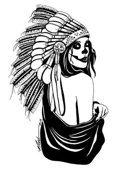 indian skull. dope id love a tat like this minus the body