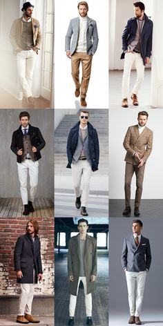 Men's White Clothing In Winter Outfit Inspiration Lookbook
