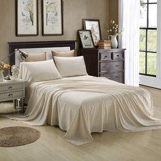 Honeymoon Extreme Soft 4PC Bed Sheet Set   Ivory Sheet Set   35.00