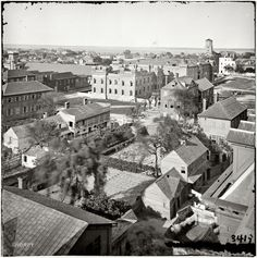 """1865. """"Charleston, South Carolina. View from roof of Orphan Asylum. The Citadel in middle distance."""" From photographs of the Federal Navy and seaborne expeditions against the Atlantic Coast of the Confederacy, 1863-1865."""