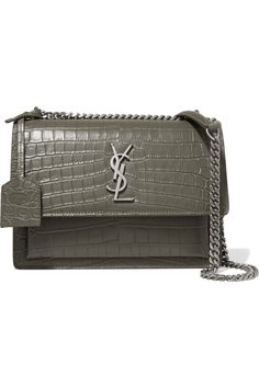 c4b5fe5a3e62 Saint Laurent - Sunset medium croc-effect leather shoulder bag