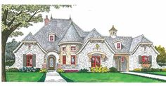 European House Plan with 3643 Square Feet and 4 Bedrooms(s) from Dream Home Source | House Plan Code DHSW68930