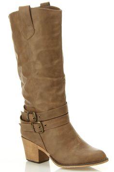 Lark Heel Boots In Mocha