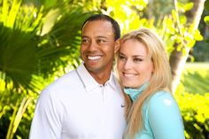 Tiger Woods and Lindsey Vonn,