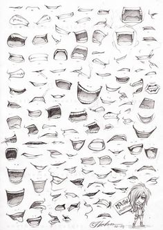 Mouth drawing references #art