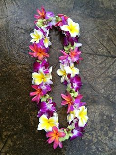 Mixed double lei mixed double lei by North Shore Buds & Blooms Flower Garland Wedding, Flower Garlands, Wedding Flowers, Flower Crowns, Graduation Flowers, Graduation Leis, Real Flowers, Artificial Flowers, Hawaian Party