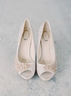 Beaded neutral shoes: http://www.stylemepretty.com/little-black-book-blog/2016/03/09/soft-sweet-spring-irish-wedding/ | Photography: Milton Photography - http://milton-photography.com/