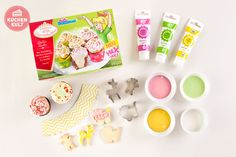 #Babyparty #Cupcake #Unisex #Mädchen #Junge #Coppenrath und Wiese #Schmuckkekse #sweet table #boy #girl #cupcake #caketopper #baby