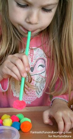 Pin-Straws and Pom Poms Math Counting Game for Preschool Children - Recipe . - Pin-Straws and Pom Poms Math Counting Game for Preschool Children – Recipes – # - Fun Math Games, Counting Activities, Toddler Preschool, Toddler Activities, Preschool Activities, Games For Kids, Preschool Kindergarten, Games For Preschoolers, Preschool Education