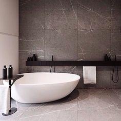 Ultra modern black and white bathroom