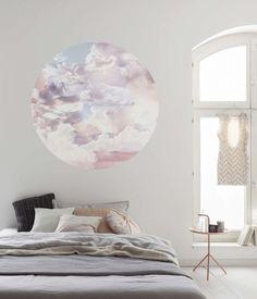 Komar Dots Candy Sky D1-010 - Fotobehangkoopjes.nl Pastel Clouds, Pastel Sky, Ciel Pastel, Dots Candy, Piece A Vivre, Mural Wall Art, Forest House, Traditional Wallpaper, Wall Design