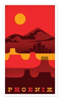 Phoenix, AZ travel poster - www.VacationsMadeEasy.com