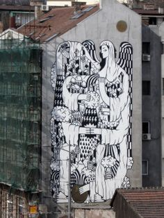 Beogradski grafiti.: La Santa de Beograd / REMED / 2008