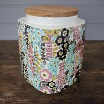 Pretty Retro Large Storage Jar