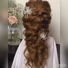 86 cool wedding hairstyles for the modern bride - Hairstyles Trends Long Hair Wedding Styles, Short Hair Styles Easy, Wedding Hair And Makeup, Medium Hair Styles, Half Up Wedding Hair, Wedding Day Nails, Wedding Hair Pieces, Wedding Hair Accessories, Easy Hairstyles For Medium Hair