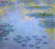 Water Lilies 1906 Claude Monet - Original Art by Artist Claude Monet, Pierre Auguste Renoir, Auguste Rodin, Oil Painting For Beginners, Painting Techniques, Edgar Degas, Cardiff, Charles Gleyre, Artist Monet