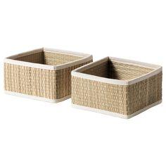 baskets for the bathroom shelf. Store hair dryers, shampoos.