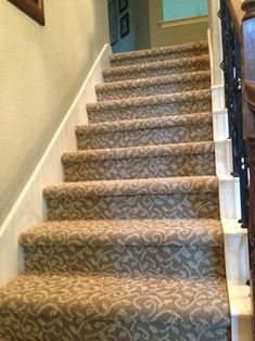 Carpet On Stairs Articles And Images About Carpet Stairs Stair   Mink Carpet On Stairs   Design   Step   Grey   Open Plan   Taupe Painted