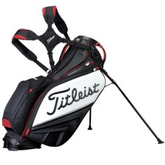 Titleist Staff Tour Golf Stand Bag Black/White/Red TB4SXSF-0
