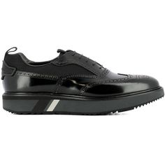 Prada Men's Black Leather Sneakers (15.386.890 IDR) ❤ liked on Polyvore featuring men's fashion, men's shoes, men's sneakers, black, shoes, prada mens sneakers, mens black leather sneakers, mens leather shoes, mens black shoes and mens black leather shoes