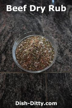 Beef Dry Rub by Dish Ditty Recipes - This is a simple dry rub recipe for beef… Dry Rub For Steak, Bbq Dry Rub, Dry Rubs, Beef Rib Rub, Beef Ribs, Beef Rib Dry Rub Recipe, Spicy Bbq Rub Recipe, Dry Rub Recipes, Beef Recipes