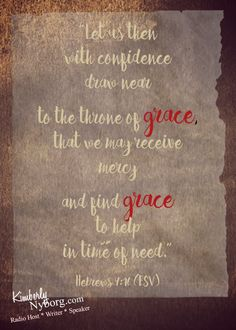 The grace of God is
