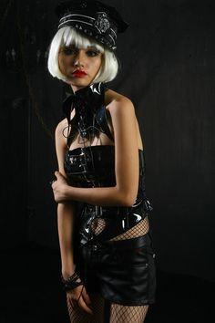 Sexy Black Halter Sleeveless mesah Pu Punk Vest Y-372 [Y-372] - $60.99 : Zen Cart!, The Art of E-commerce