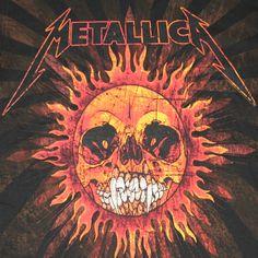 Metallica Pushead Sun Black Graphic Tee Shirt | WearYourBeer.com