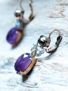 Amathist earrings. Happinez webshop.
