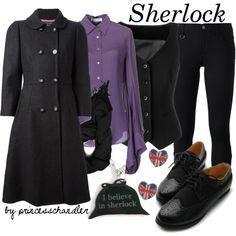 """Sherlock"" by princesschandler on Polyvore"