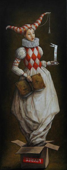 CHAULOUX Catherine, peintre contemporain onirique, maitre de l'imaginaire…