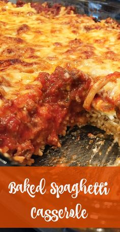 Looking for great pasta recipes? Check out this easy and delicious baked spaghetti casserole. It's like lasagna but much, much easier. Great Pasta Recipes, Baked Pasta Recipes, Dinner Recipes, Pasta Ideas, Fall Recipes, Pasta Dishes, Food Dishes, Main Dishes, Rice Dishes