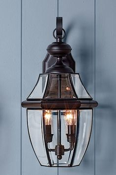 Quoizel Newbury 2-Light Outdoor Wall Lantern entry light, all about entry lights (This Old House): about $200; lightingdirect.com