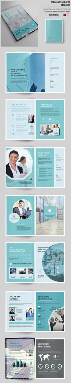 Business Brochure Template   16 Pages PSD, INDD