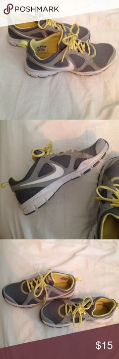 """Nike """"In Season TR2"""" Yellow, Grey and White Nike Sneakers. Great cushion on the inside Nike Shoes Sneakers"""
