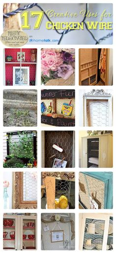 17 Creative Uses for Chicken Wire | curated by 'Rustic ReDiscovered' blog!
