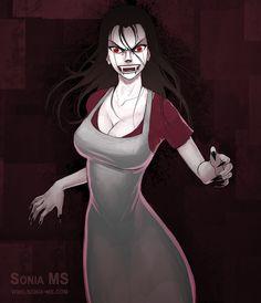 Commission: Yoshino vampire by SoniaMatas.deviantart.com on @DeviantArt