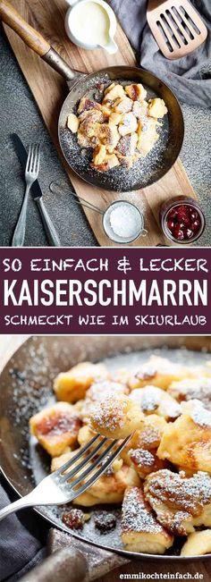 Kaiserschmarrn ganz klassisch - emmikochteinfach - Pratik Hızlı ve Kolay Yemek Tarifleri No Cook Desserts, Easy Desserts, Dessert Recipes, Best Pancake Recipe, Pancake Recipes, Breakfast Recipes, Easy Meals, Food Porn, Brunch