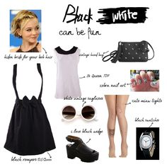 mix and match tips with black and white style Zebra Nail Art, Black And White Style, Black Romper, Black Tights, Black Wedges, Mix N Match, Vintage Hairstyles, Swatch, Rompers