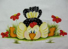 cloth canopy with paint folk style chicken sprawled dangola Tole Painting, Fabric Painting, Painted Rocks, Hand Painted, Chicken Quilt, Diy And Crafts, Arts And Crafts, Chicken Crafts, Chickens And Roosters