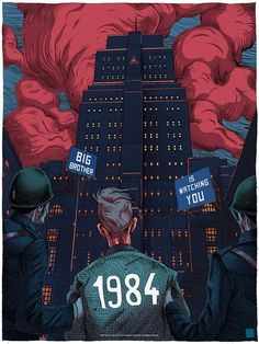 1984 by Olivier Bonhomme - Home of the Alternative Movie Poster -AMP-