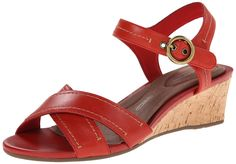 Rockport Women's Total Motion 55mm Quarter Strap Red Berry Smooth Casual Sandal 8 M (B). Heel 55 millimeter wedge, wider heel diameter for comfort. ADIPRENE and ADIPRENE+ by adidas provide shock absorbing heel cushioning and resilient forefoot cushioning. Footbed retention foam provides full foot contact and support 6 millimeter. Leather upper full grain leather is easy to clean and maintain to extend product life, novelty leather provides fashion styling. Thermoplastic polyurethane…