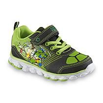 Nickelodeon Boy's Teenage Mutant Ninja Turtles Green/Black Light-Up Shoe