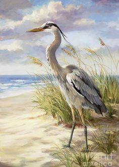 """Blue Heron  Greeting Card for Sale by Laurie Hein.  Our premium-stock greeting cards are 5"""" x 7"""" in size and can be personalized with a custom message on the inside of the card.  All cards are available for worldwide shipping and include a money-back guarantee."""