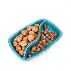 Niebieski dzielony półmisek ceramiczny / artlantyda / Dekoracja Wnętrz / Ceramika ceramika, hand made, glina, szkliwo, miska, półmisek