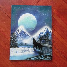 wolf painting spray paint artwolf gifts boys by FloralFantasyDreams Gloss Spray Paint, Spray Painting, Art Wolfe, Superhero Wall Art, Wolf Painting, Fantasy World, Gifts For Boys, Unique Art, Original Artwork