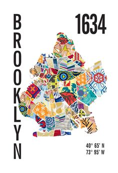 Brooklyn Map Poster – JHill Design Map Prints