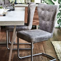 Saxby - Dining Chair (Grey) | Dining Chairs | Living Room
