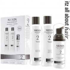 Father's Day Gift idea: Nioxin Hair System Kit 2 for Noticeably Thinning Fine Hair - Nioxin Cleanser - Nioxin Scalp Therapy - Nioxin Treatment Fine Natural Hair, Natural Hair Styles, Fine Hair, Nioxin Hair, Nioxin System, Make Hair Thicker, Hair System, Pc System