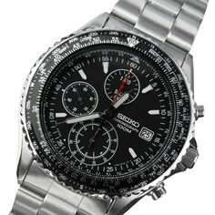 SEIKO Chronograph SND253P1 Aeronautic Sliderule Pilot Tachymeter Watch